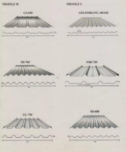 Harga Atap Spandek Silver dan Warna